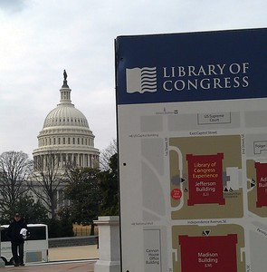 Map of the Library of Congress, across the street from the United States Capitol
