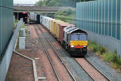 66302 0732/4R75 Grangemouth-Elderslie departs Grangemouth FLT 21/06/13.