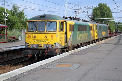86622_86609 1838 Light Engine move Mossend-Coatbridge FLT pass Coatbridge 20/06/13.