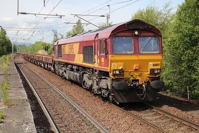 66107 1529/6k41 Rose Street-Mossend passes Coatbridge 20/06/13.