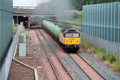 47739 0638/6R46 Grangemouth Ineos-Prestwick Airport passes Grangemouth FLT 21/06/13.