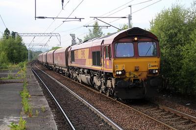66003 18574R09 Longanett-Ayr Flakland Yard passes Coatbridge 20/06/13.
