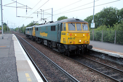 86632_86613 0501 Light Engine Coatbridge FLT-Mossend pass Coatbridge 21/06/13.