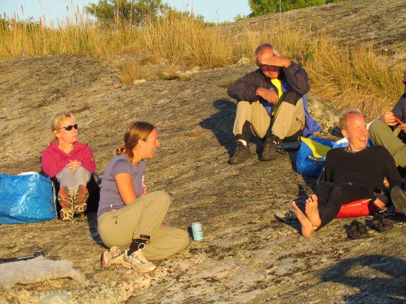 Päivi, Karin, Per och Johan  Foto Anita