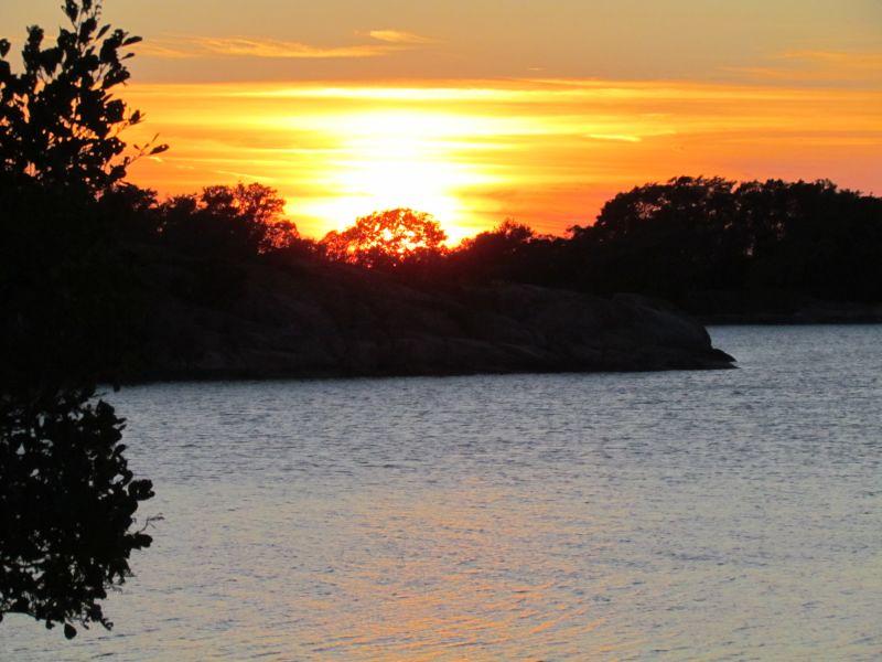 Solnedgång över Stångskär  Foto Anita