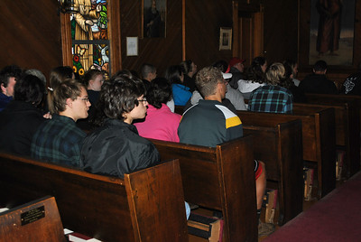The honors group held their own small church service on Sunday morning.