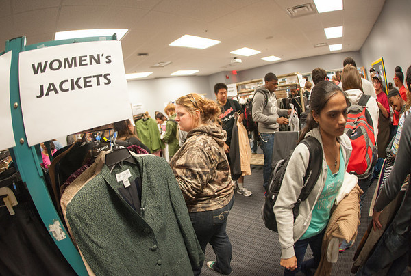 Career Center business clothing giveaway