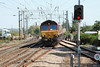5 September 2013 :: 66046 joining the main line at Manningtree working 6V17 from Parkeston Tip to Acton