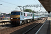 "5 September 2013 :: 90009 ""Diamond Jubilee"" slowing for its stop at Colchester with 1P31, the 1100 from Norwich to Liverpool Street"