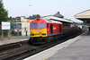 27 September 2013 :: DIT on the rear of 6V27 from Eastleigh to Hinksey is 60024 and is photographed passing through Basingstoke station