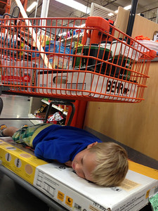 Connor tired of paint shopping.