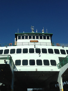 This same ferry, the Hyak, apparently ran over a 28' sailboat on my birthday. No one hurt.