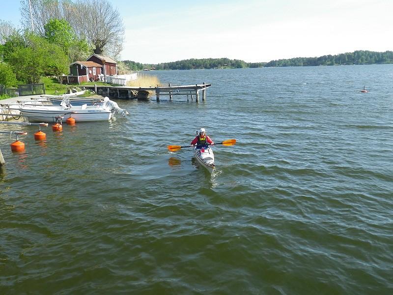 Susanne paddlar Atlantic