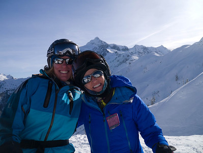 Susan and Marla at Mt Baker Ski area