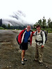 """Setting off. My good friend Roger Page drove us up to Snoqualmie Pass, and also lent me some of his """"ultralight"""" hiking equipment. The weather looked inclement, and the forecast was for some of the biggest thunder storms in recent history. Oh joy!"""