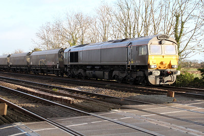 66749 1015/6H12 Tyne Dock-Drax passes Hillam Gates crossing.