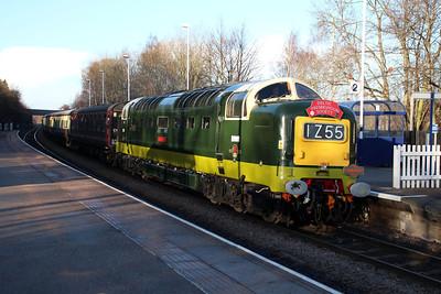 D9009_55009 'Alycidon' 1051/1z55 Crewe-Carlisle Charter passes Conisborough.