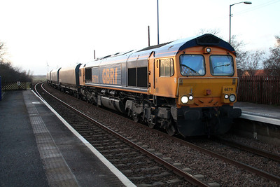 66711 1523/4R18 Doncaster-Immingham passes Althorpe.