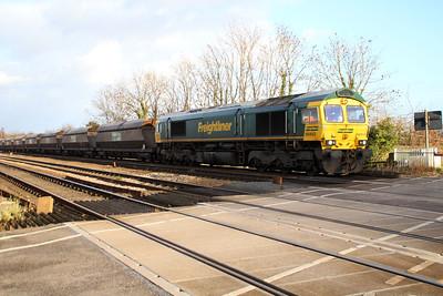 66953 1253/6G19 Redcar-Drax passes Hillam Gates crossing.