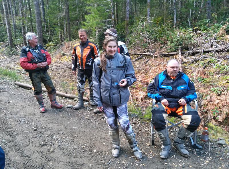 Gary, Bob, Kaitlyn, Dawn behind Kaitlyn, and Rory