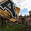 The Army Corps of Cadets enter the stadium prior to their 34-20 loss to Stanford at Michie Stadium at the United States Military Academy in West Point, NY on Saturday, September 14, 2013. Hudson Valley Press/CHUCK STEWART, JR.