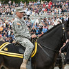 LTG Robert Caslen atop a mule during the Army-Stanford game. Stanford defeated the Army Black Knight's 34-20 at Michie Stadium at the United States Military Academy in West Point, NY on Saturday, September 14, 2013. Hudson Valley Press/CHUCK STEWART, JR.
