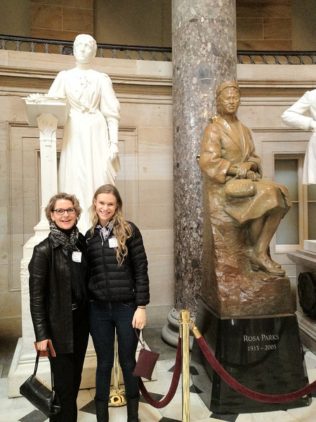 Chris and Sarah on a tour of the Capitol before picking up Grace