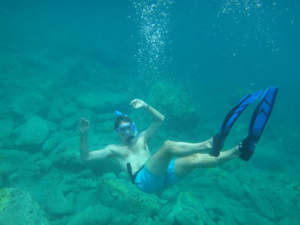 I'm not the most elegant swimmer.