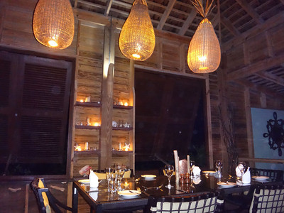 The Spice Mill is a very pretty restaurant at the end of the peninsula...