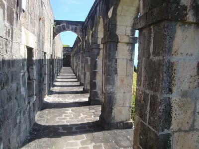 Brimstone Hill stone corridor