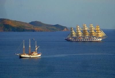 Horizons balcony view yachts