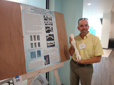John has a super cool calf leg prototype developed using a 3D printer, which can be used for teaching resolution of certain bovine dystocias
