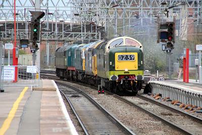 D9009_37901_33109_20087_D1501  1124/0z39 Castleton(East Lancs)-Alton(Mid Hants) Light engine move for the Diesel Gala at the Mid Hants Railway that weekend.