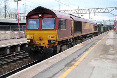 66117 0740/6E35 Crewe-Aldwarke.