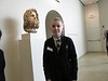 me standing next to head of serapis