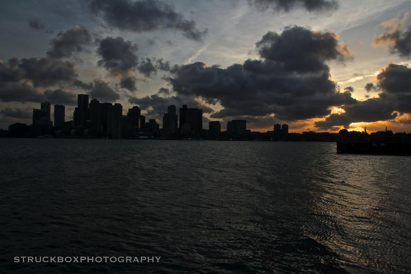 Sunset, East Piers Park, East Boston MA