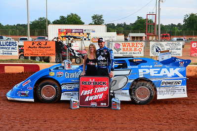 Jared Landers won the Red Buck Fast Time Award