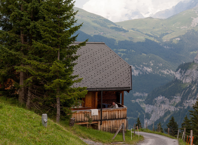 House in the mountains, near Mürren