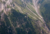 A para-glider. over Gimmelwald