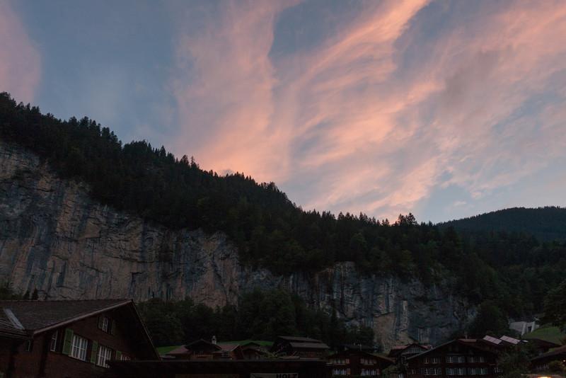 Evening clouds from Lauterbrunnen
