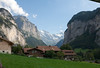 View from the train back to Lauterbrunnen
