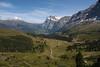 Looking down the valley from Kleine Scheidegg