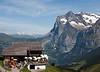 Restaurant and mountains from Kleine Scheidegg