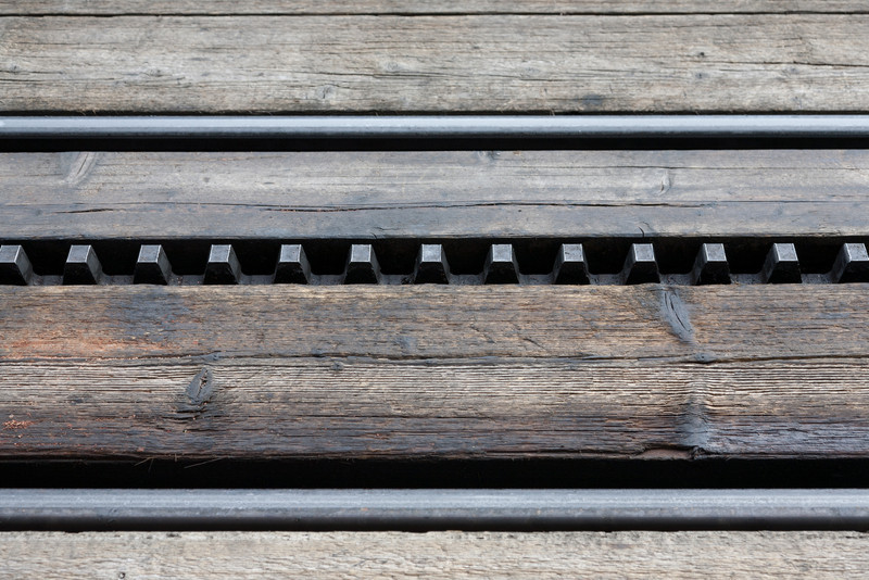 Cogged rail track
