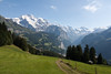 View back down the trail to Wengen