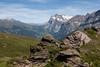 Rocks and mountains, hiking from Kleine Scheidegg