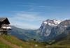 View down to Grindelwald from Kleine Scheidegg