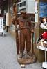 Wooden skier in Wengen