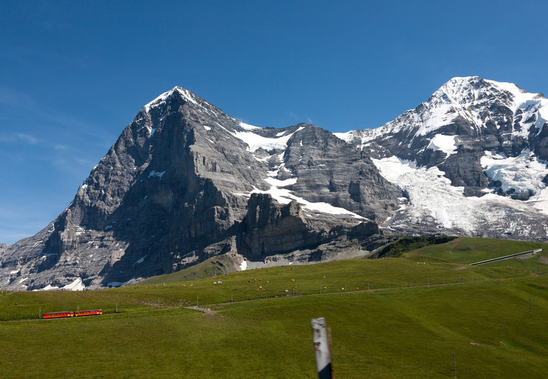 Jungfraubahn ascending to the Eiger tunnel