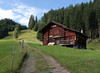 A barn on the trail above Wengen